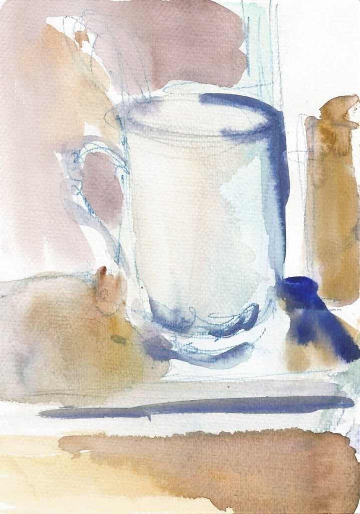 Still life, small size, watercolor, 2020 r 31(1)15x21_2019