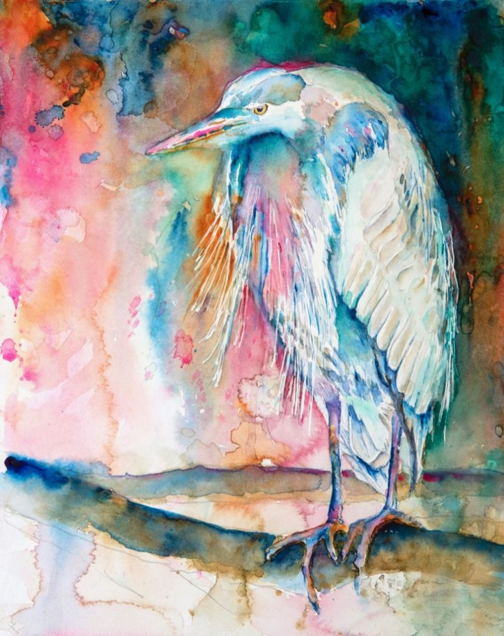 Bird watercolor by Lavonne Cookman