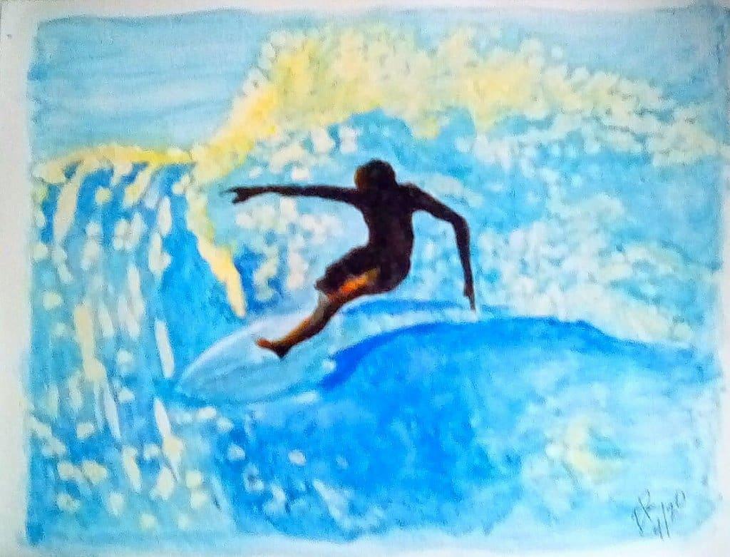 """Today's watercolor challenge """"Waves"""" IMG_20200426_153707_kindlephoto-74386261"""