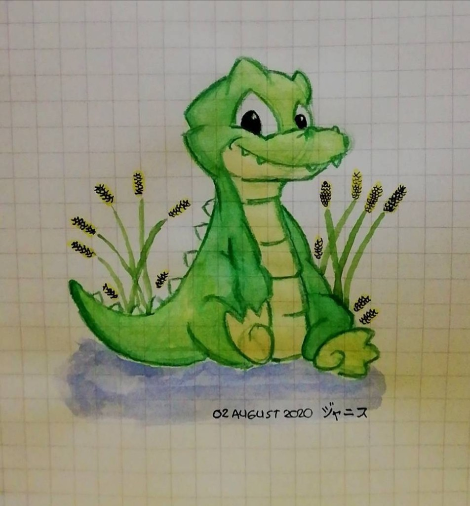 My entry on #doodlewashAugust2020 – alligator (2/31) Late upload Reference: Pinterest Material