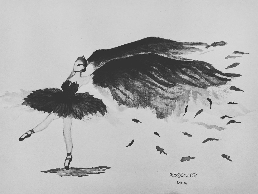 August 12 Prompt: Dance Inspired by the movie Black Swan IMG_20200812_212518_325