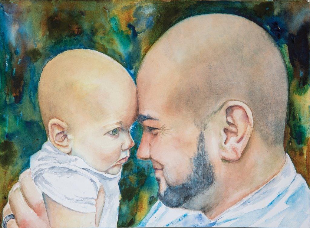 Watercolor portrait by Lavonne Cookman