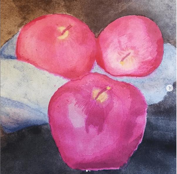 Practicing, practicing, practicing in the hope one day I'll be good at watercolors. Manzanas