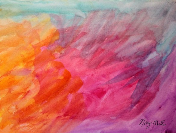 Angels Watercolor Painting by Nancy Mills