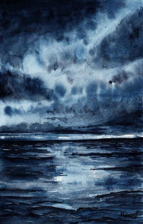 As above, so below Night Sky Watercolor Painting
