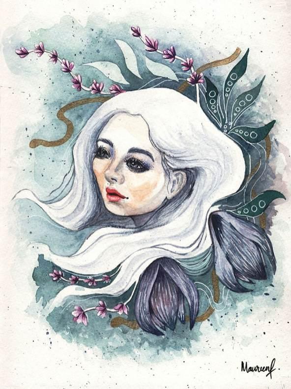 Carmen Watercolor Painting