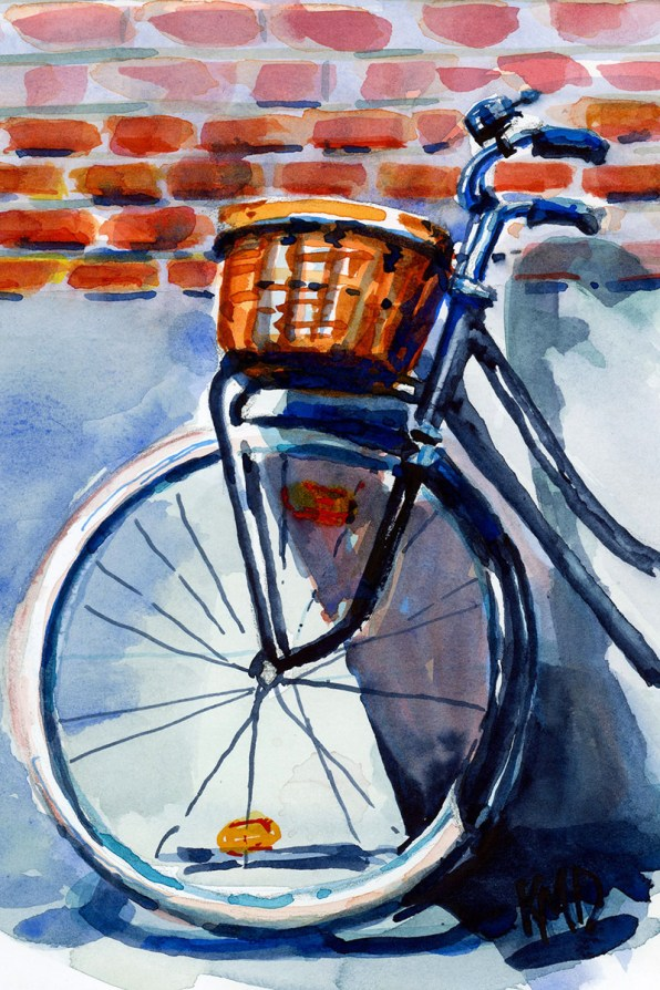 Bike studio watercolor painting