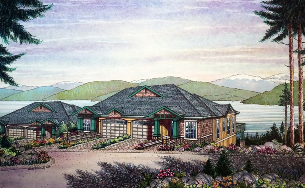 RESIDENTIAL DEVELOPMENT AT WEST VANCOUVER Architectural Drawing Watercolour Bert Morelos