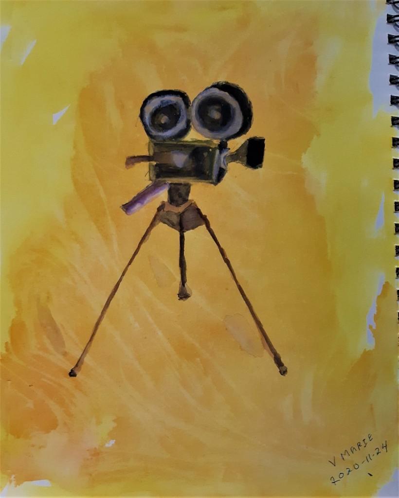 old movie camera #doodlewashNovember2020 20201124_old_movie_camera