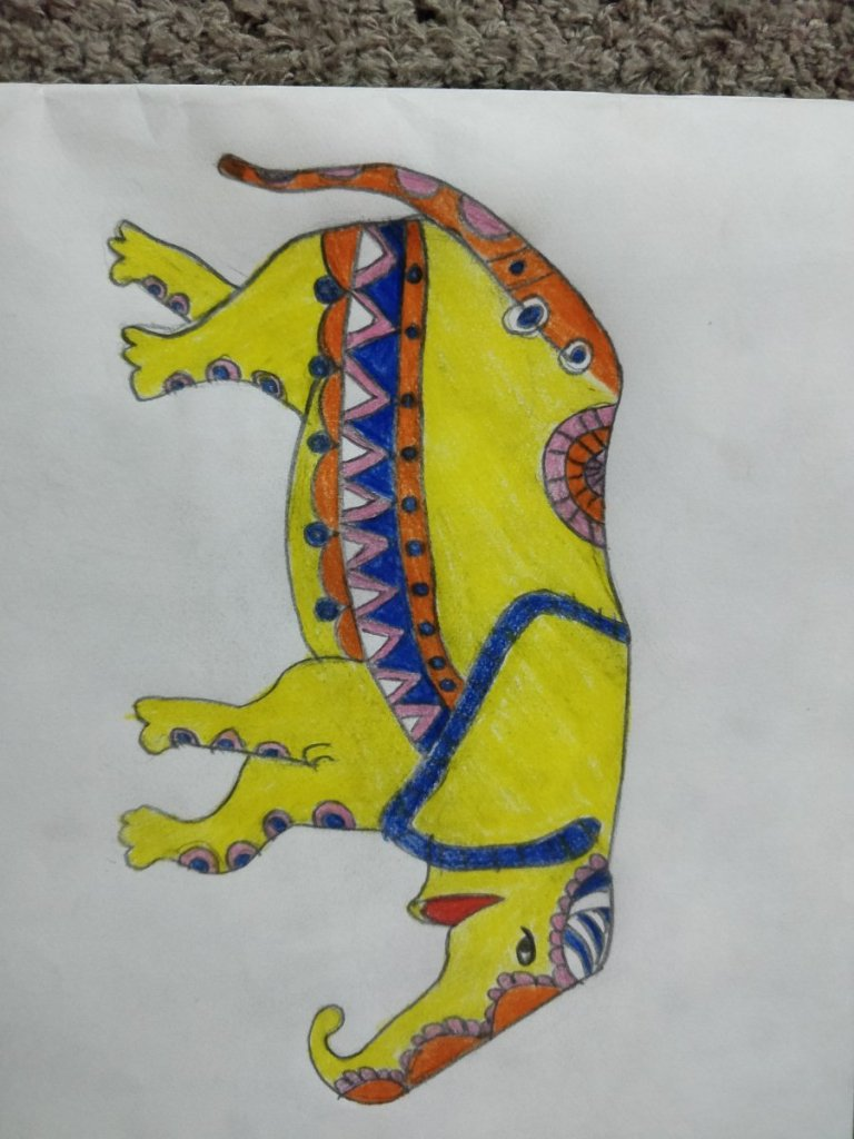 By: Balvishist Prompt ELEPHANT… Day1 #doodlewashNovember2020IMG_20201104_204915