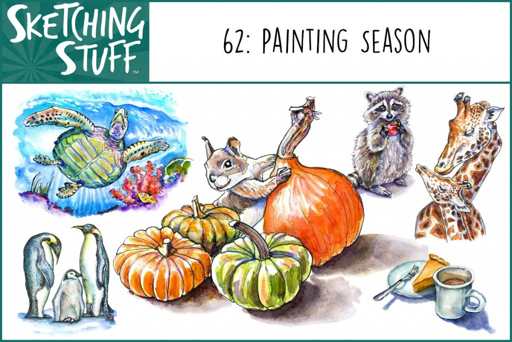 Sketching Stuff Podcast Episode 62 Album Art Painting Autumn