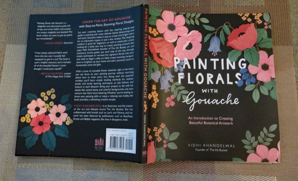 Painting Florals With Gouache by Vidhi Khandelwal Cover Exterior Front and Back View