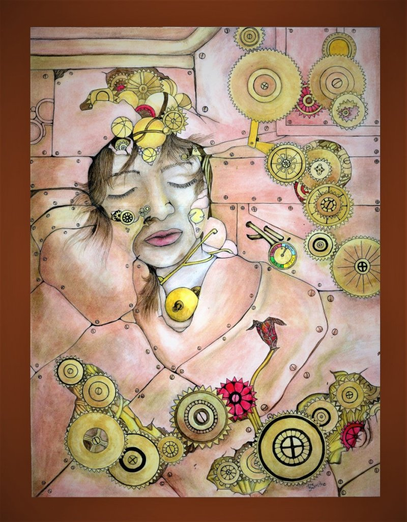My daughters beautiful face was used in my steampunk phase. mind of the machine21 (2)