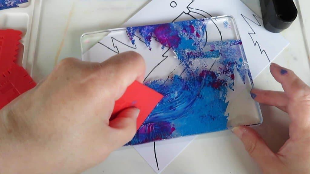 Monoprint tutorial step 11
