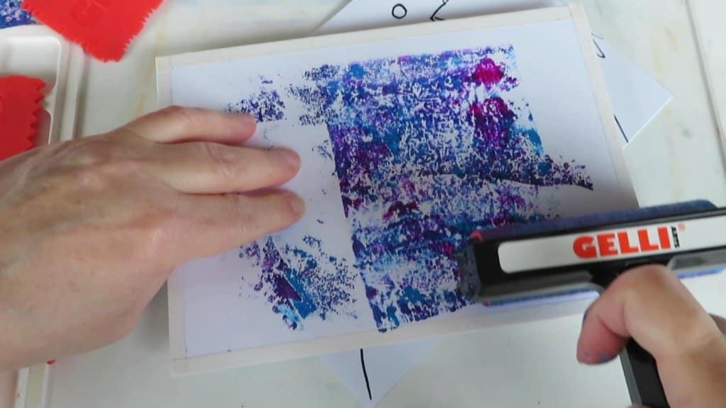 Monoprint tutorial step 12