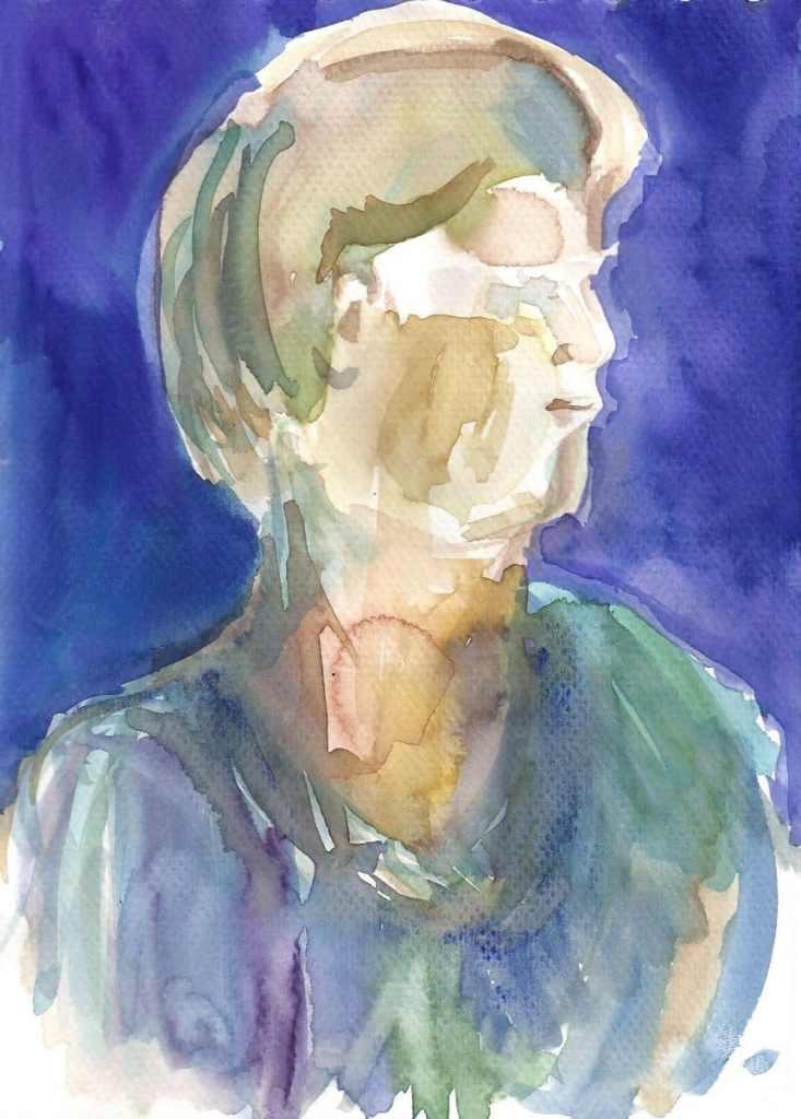 Portrait Jolanta, watercolor, small size, 2010 r. 3_a5_2010_edited