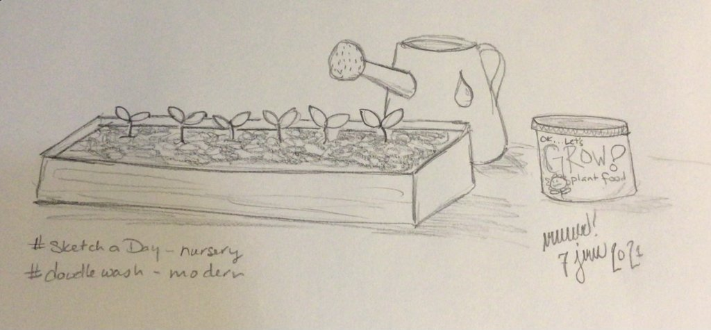 """My other prompt was """"modern"""" so here's a few little plants at the nursery. 33B15DCD-EBF9-40BD-"""