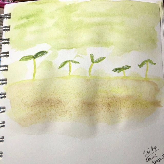 #doodlewashjanuary2021 Struggled with young so I combined young and sprout…and its heaven\&#82