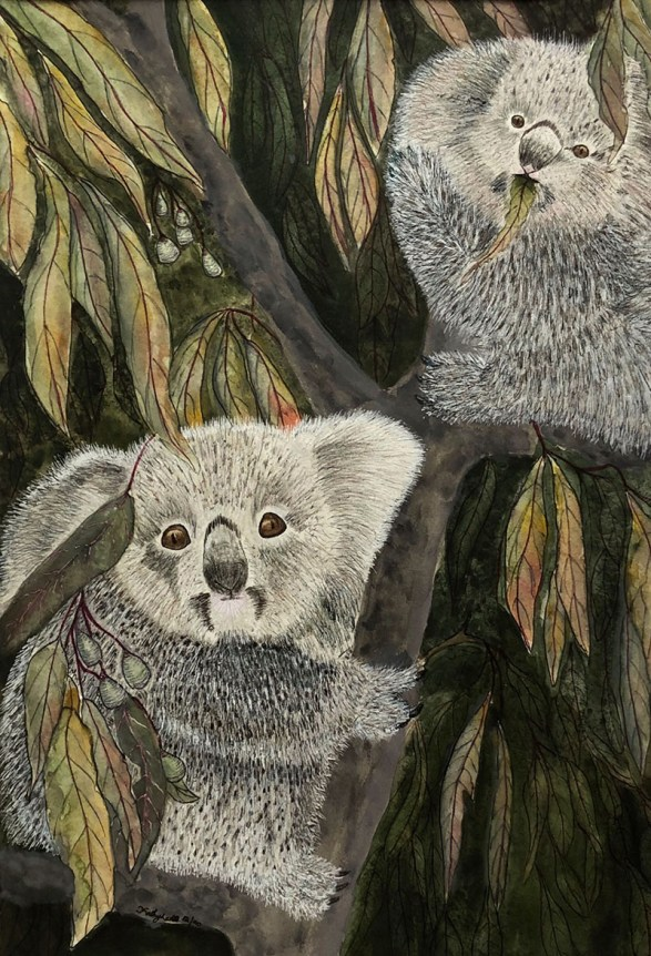Koala Bears Watercolor by Kathy Lee