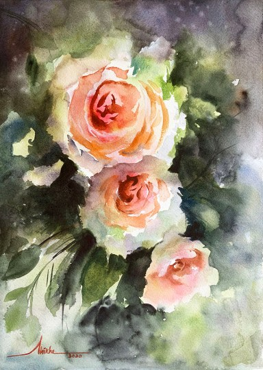 Roses_shikha watercolour by Shikha Garg