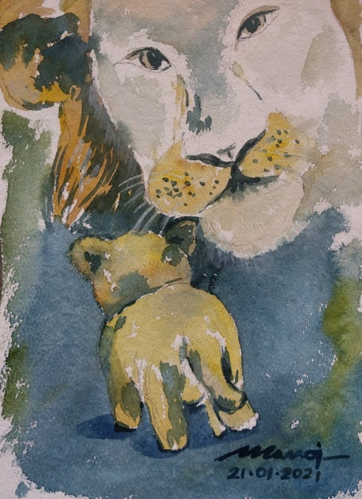 Dt: 21.01.2021 Sub: CUB Watercolor painting on handmade paper inbound1015537150692987504