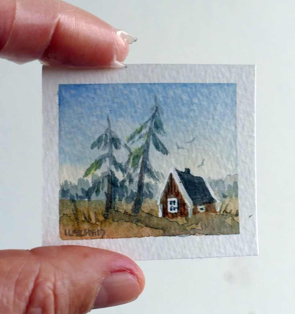 Miniature stuga original