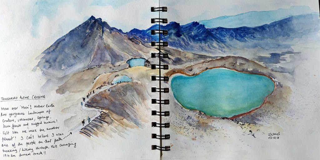 travel 1 sketch watercolour by Shikha Garg