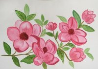 Colorful Flowers 3 Watercolor Painting by Saumya Agrawal