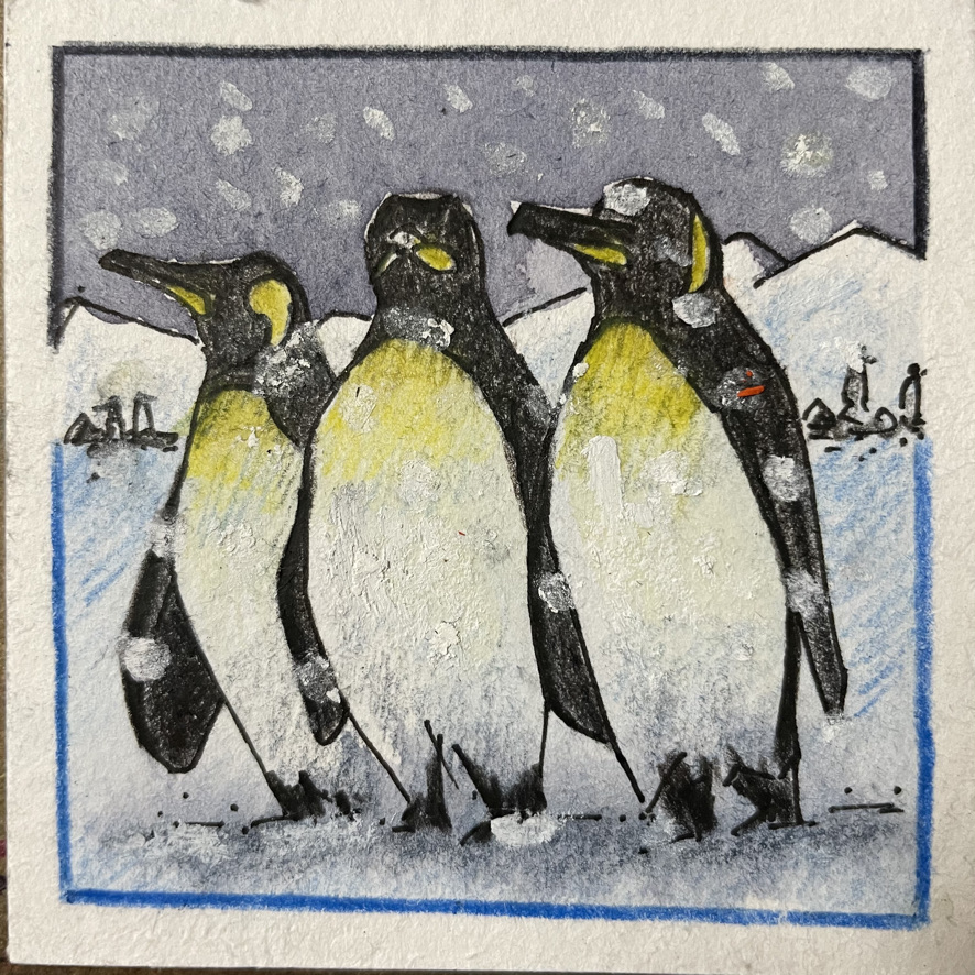 I like painting penguins. Fortunately today's prompt is Penguin! E82D103A-4616-46BF-9EE0-499E3