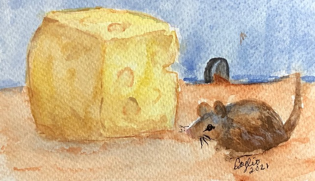 #doodlewashfebruary2021 day 28 mouse: We'd say this is a very lucky mouse — just look at