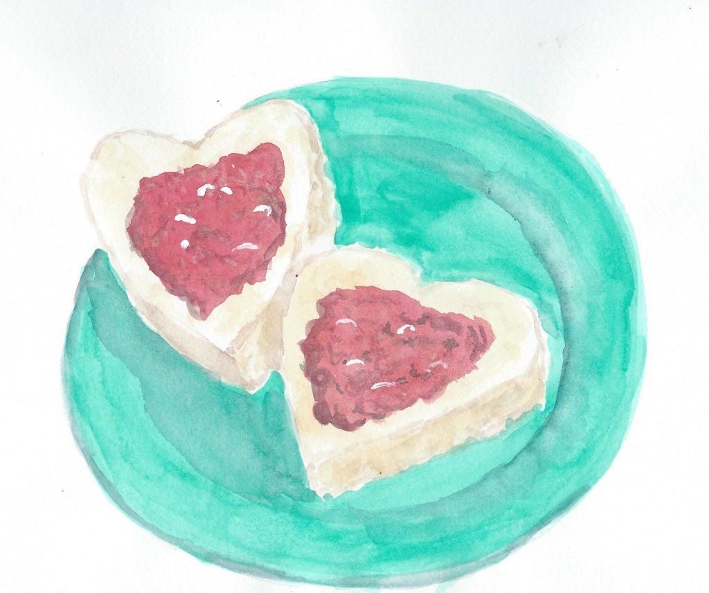 I baked some heart-shaped scones for my sweethearts on Sunday. Too bad none of them lasted long enou