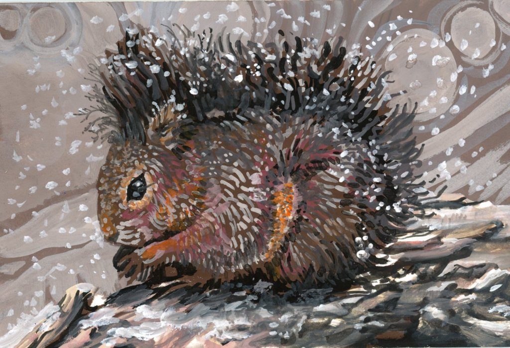 #DoodlewashFebruary2021 Prompt: Squirrel. Did you know that in the 1870's squirrels (along wit