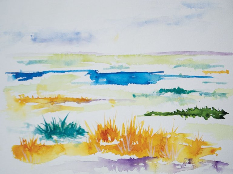 Summer Heat Watercolor by Lisa Sinicki