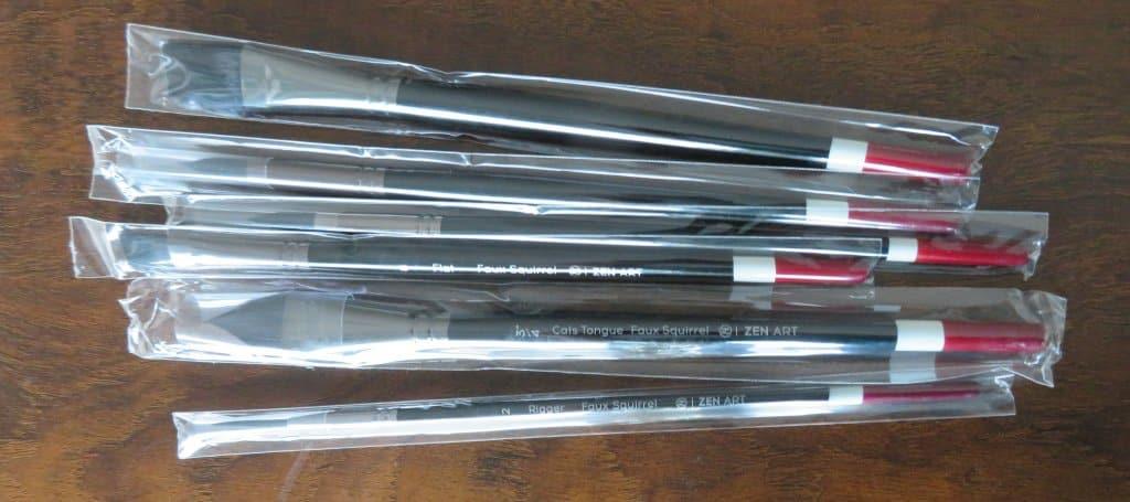 ZenArt Black Tulip Individually wrapped brushes