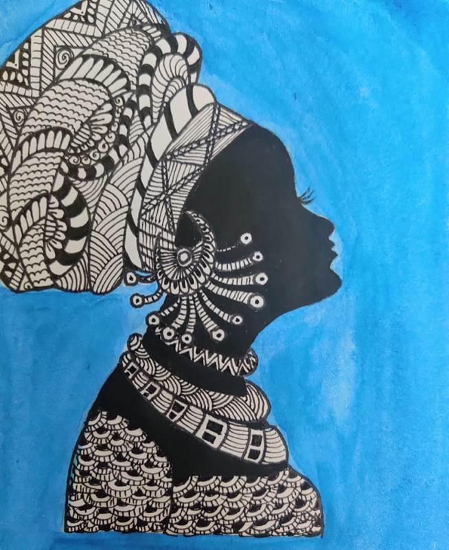 Fusion Mandala with watercolor Pattern