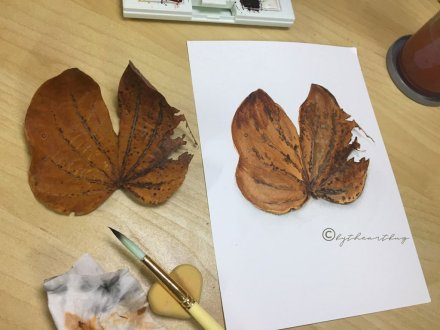 Leaf Watercolor Painting From Life