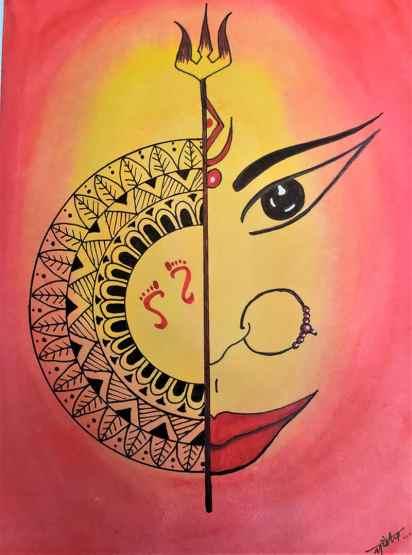 Mandala&GoddessDurga