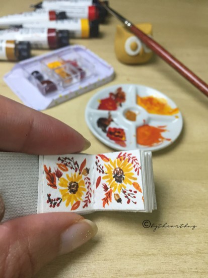 Watercolor Miniature Book Flowers