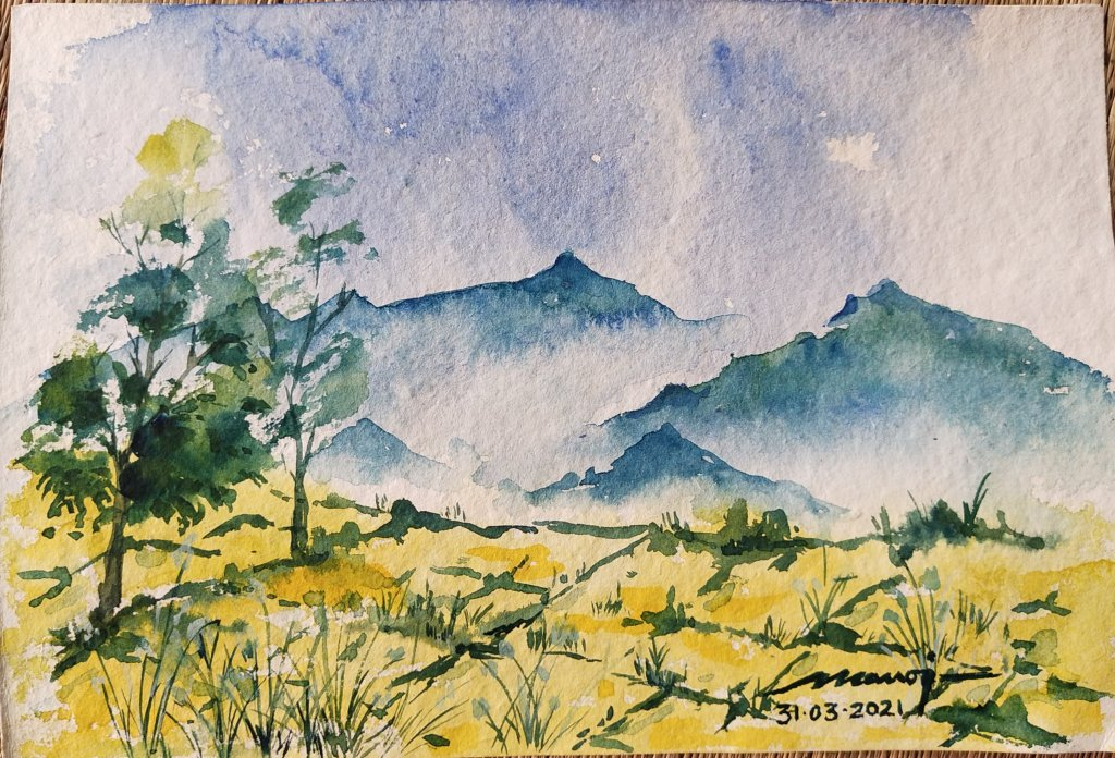 Dt.: 31.03.2021 Sub: MEADOW Watercolor painting on handmade paper inbound8420169216023878762