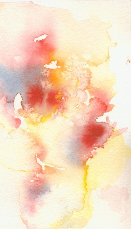 warm colours Abstract watercolour painting by Eva Smith