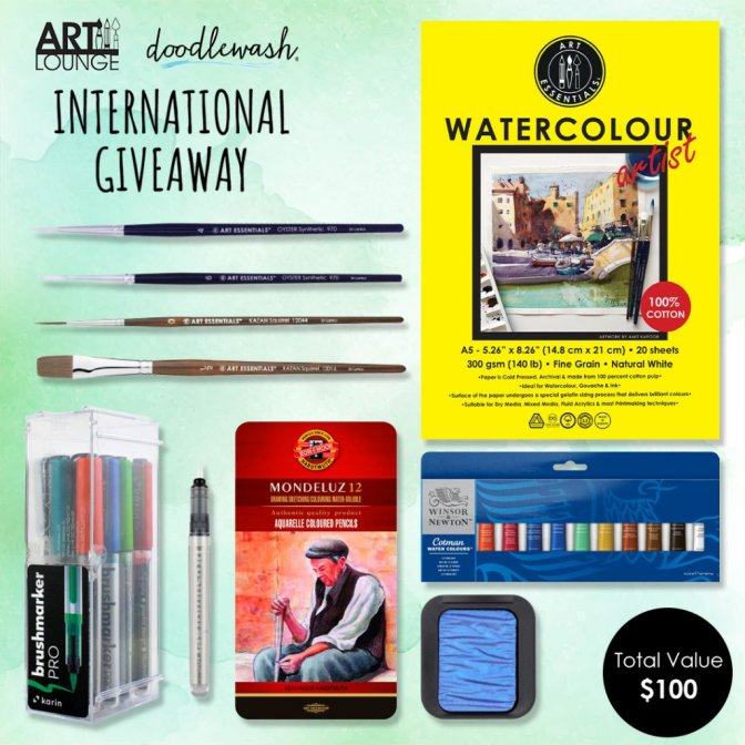 Doodlewash Art Lounge Internation giveaway 5