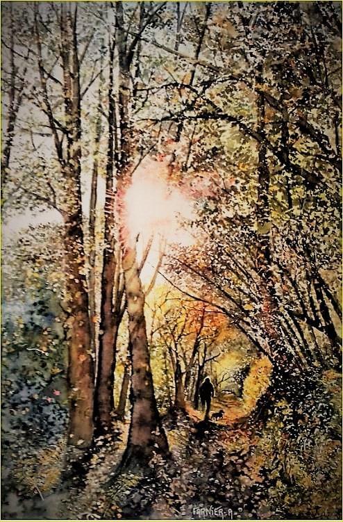 voici la balade D'Eliot ,aquarelle #WorldWatercolorGroup 40 x 50 , j'aimerai participer