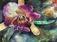 Lauren Arno Watercolor Painting Flower