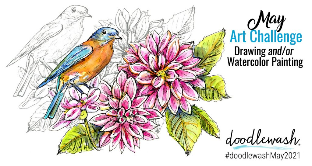 May 2021 Doodlewash Drawing Painting Challenge