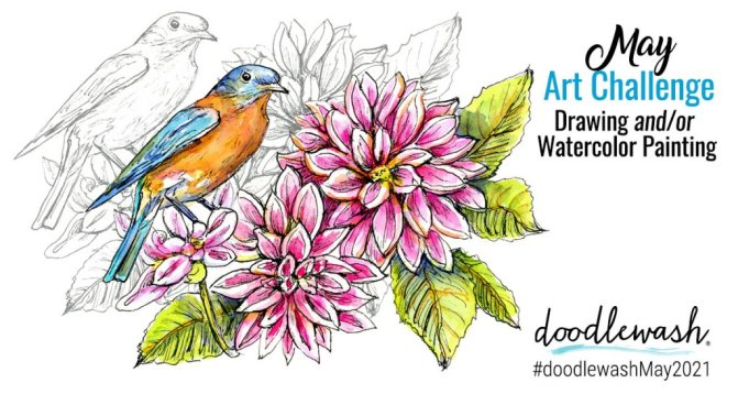 May 2021 Doodlewash Drawing Painting Challenge