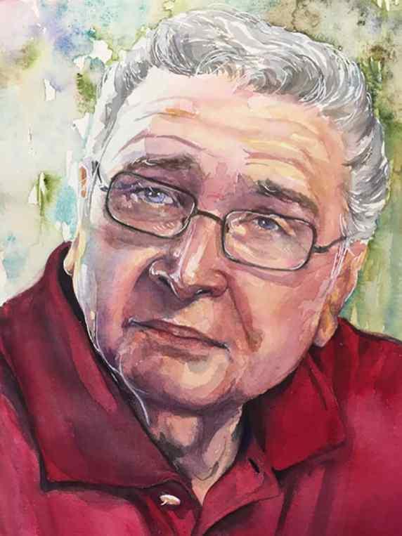 Watercolor Portrait of an older man