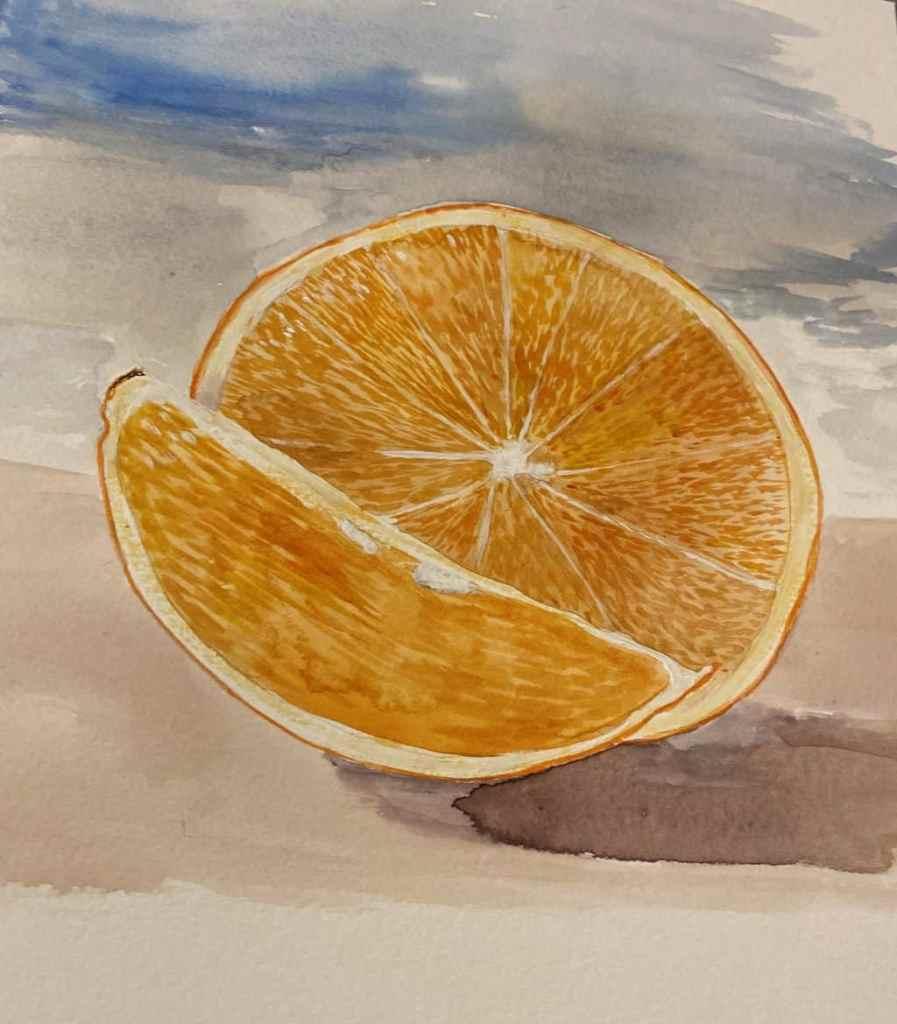 Still behind, but ta0da! oranges 😀 orange WC 2021-04-17