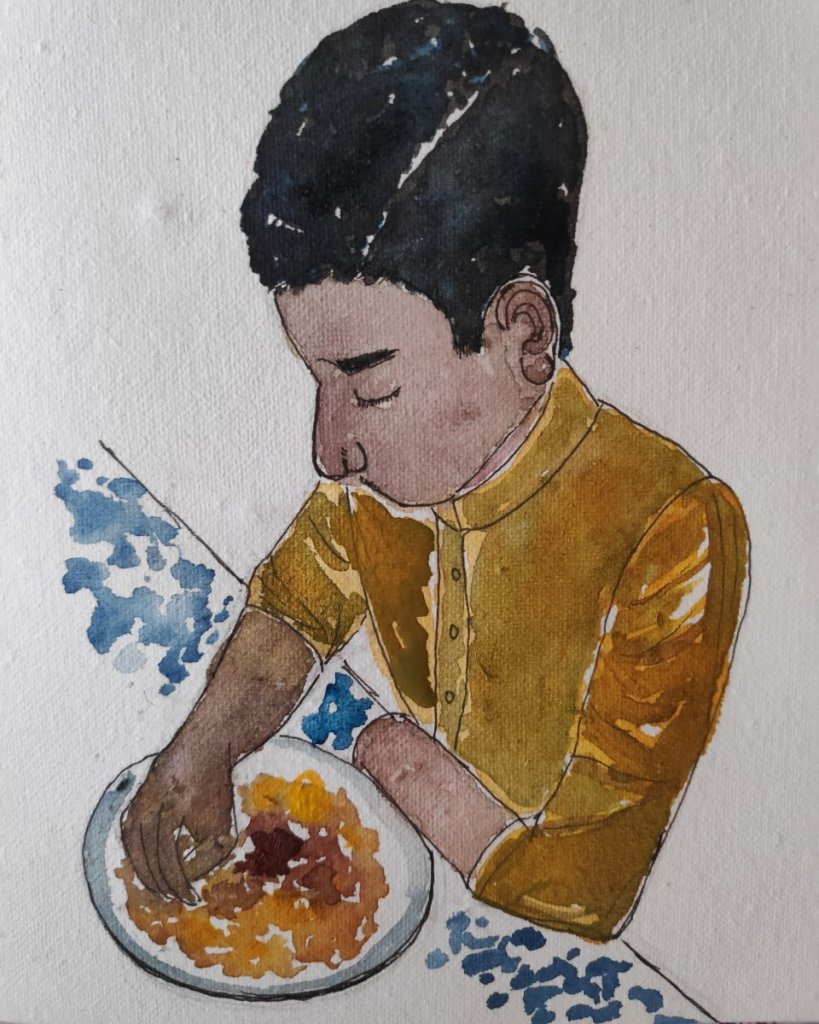 #day4 #eating #doodlewashmay2021 #worldwatercolorgroup IMG_20210504_090415_949