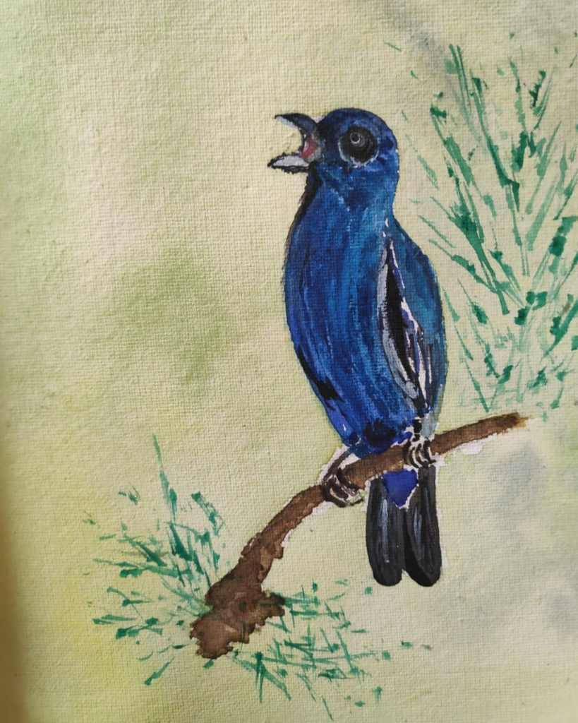 #day7 #singing #day8 #bluebird #doodlewashmay2021 #worldwatercolorgroup IMG_20210507_131454_216