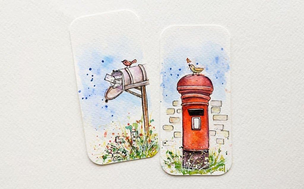 Miniature Watercolor Paintings by Tanu Gupta
